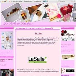 La table de Sandrine- atelier culinaire