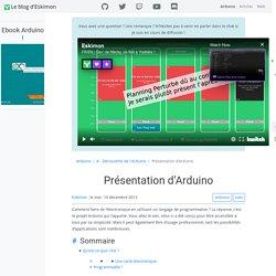 Présentation d'Arduino