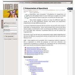 Présentation d'OpenStack - LinuxFr.org