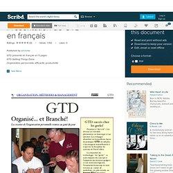Présentation de GTD en français
