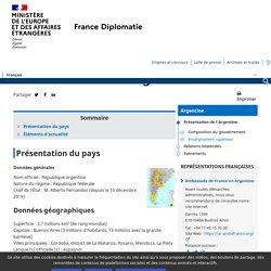 Présentation de l'Argentine