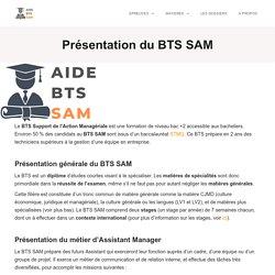 Présentation du BTS SAM (qualités, matières, horaires, débouchés...)