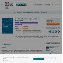 Cap École Inclusive : présentation et découverte - Réseau Canopé