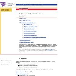 Guide de présentation d'une demande de bourse - CALQ