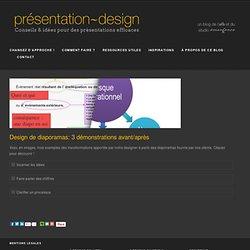 Design de diaporamas: 3 démonstrations avant/après