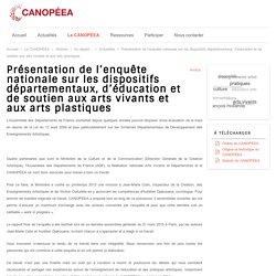 Présentation de l'enquête nationale sur les dispositifs départementaux, d'éducation et de soutien aux arts vivants et aux arts plastiques