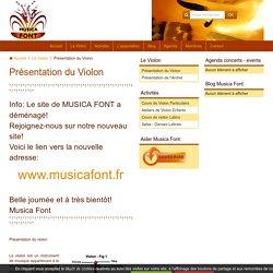 Présentation du violon, description du violon, définition du violon,