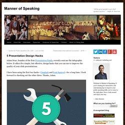 5 Presentation Design Hacks