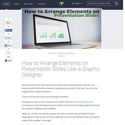 How to Arrange Presentation Slides Like a Graphic Designer