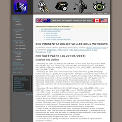 Presentation / EKD PRESENTATION DETAILLEE SOUS WINDOWS browse
