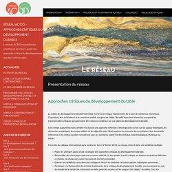 Réseau AC/DD – Approches Critiques du Développement Durable