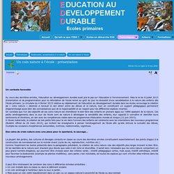 Un coin nature à l'école : présentation - [EDD 69 - Education au Développement Durable 69 - EDD69]