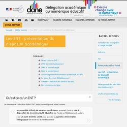 Dane de l'académie de Versailles - Les E.N.T : présentation du dispositif académique