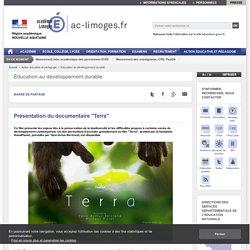 """Présentation du documentaire """"Terra"""""""