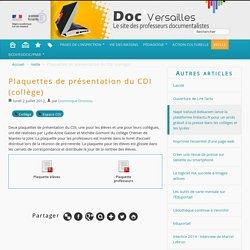 Plaquettes de présentation du CDI (collège)