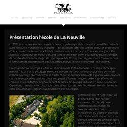 Présentation l'école de La Neuville