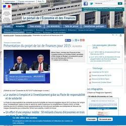 Présentation du projet de loi de finances pour 2015