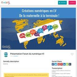 Présentation Forum du numérique 41 by emilielebret on Genially