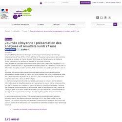 Journée citoyenne : présentation des analyses et résultats lundi 27 mai
