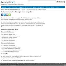 Ventes : Présentation et enregistrement comptable