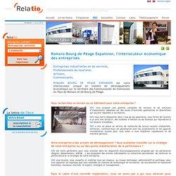 Présentation de Romans-Bourg de Péage expansion - Relatio - L'annuaire économique d'entreprises des pays de Romans sur Isère et Bourg de Péage (Drôme)