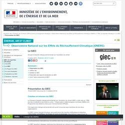 Présentation du GIEC - Ministère de l'Environnement, de l'Energie et de la Mer
