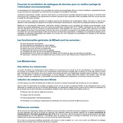 Présentation MDweb : Outil d'indexation et de recherche de l'information environnementale