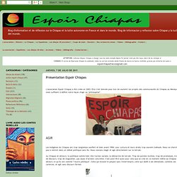 Présentation Espoir Chiapas