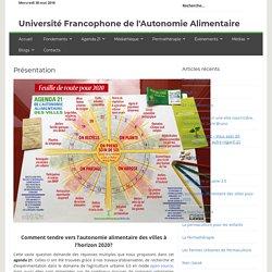 Présentation - Université Francophone de l'Autonomie Alimentaire