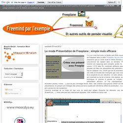 Le mode Présentation de Freeplane : simple mais efficace