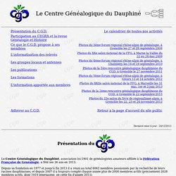 Présentation du Centre Généalogique du Dauphiné