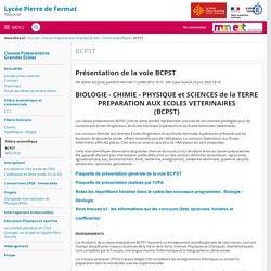 Présentation de la voie BCPST - BCPST - Lycée Général Pierre de Fermat Toulouse JOURNÉE PORTES OUVERTES VIRTUELLES Samedi 23 Janvier 2021 à partir de 9h