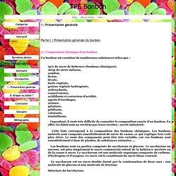 I : Présentation générale - TPE Bonbon