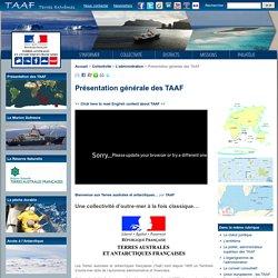 Présentation générale des TAAF