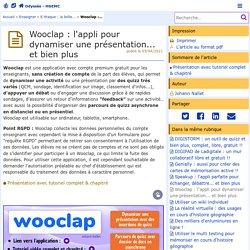 Wooclap : l'appli pour dynamiser une présentation... et bien plus - Odyssée : Histoire Géographie EMC
