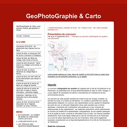 Concours - GeoPhotoGraphie & Carto