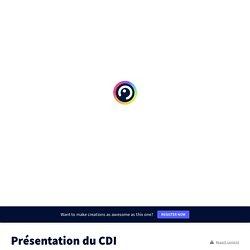 Présentation du CDI by l.gfebus.orthez.cdi on Genial.ly