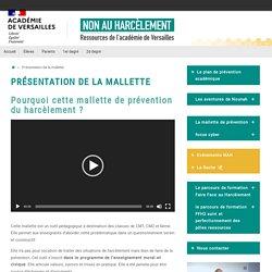 Présentation de la mallette – Prévention du harcèlement dans l'académie de Versailles