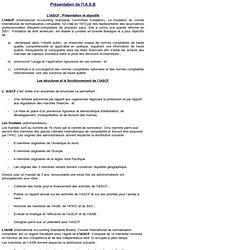 Organisation structurelle de l'I.A.S.B