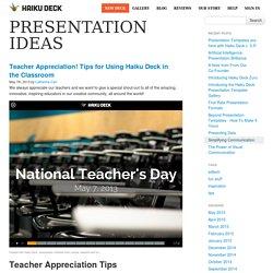 Presentation Ideas