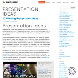 blog.haikudeck.com/10-winning-presentation-ideas/