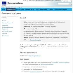 Le Parlement européen et vous