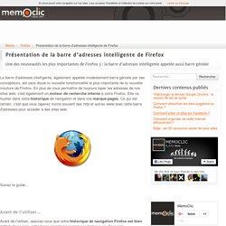 Présentation de la barre d'adresses intelligente de Firefox