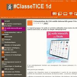 Présentation de [34 outils interactifs pour l'école]