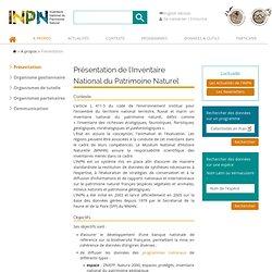 Présentation de l'Inventaire National du Patrimoine Naturel