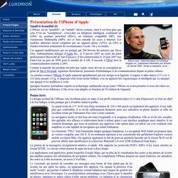 Présentation de l'iPhone d'Apple