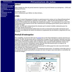 Presentation de Jahia