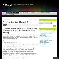 Presentation Board Layout Tips