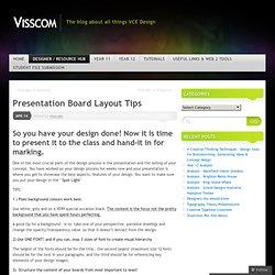 Presentation Board Layout Tips