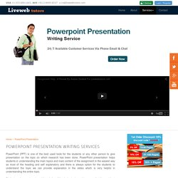 Power Point Presentation Help - Hire a Tutor Now